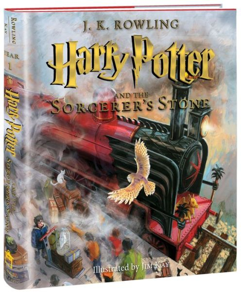 Illustrated Book Cover Version : Harry potter and the sorcerer s stone illustrated edition